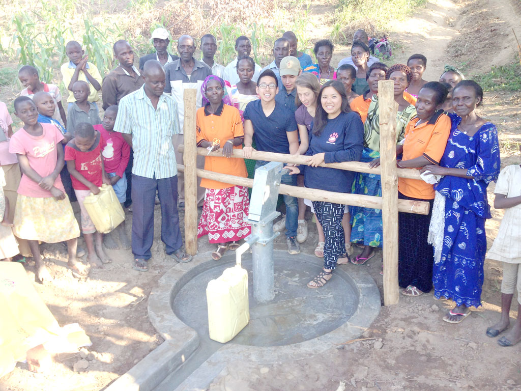 The well we constructed and funded in Lukindu Village.