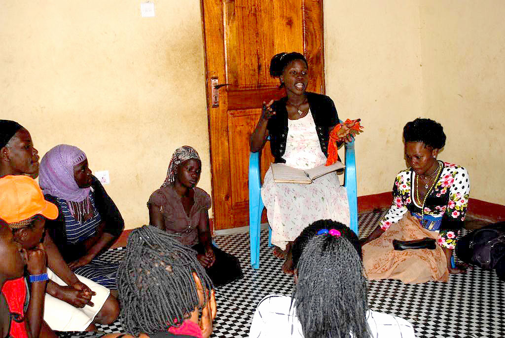 Ms Naluwuge faciliting during stepping stone session on September 28