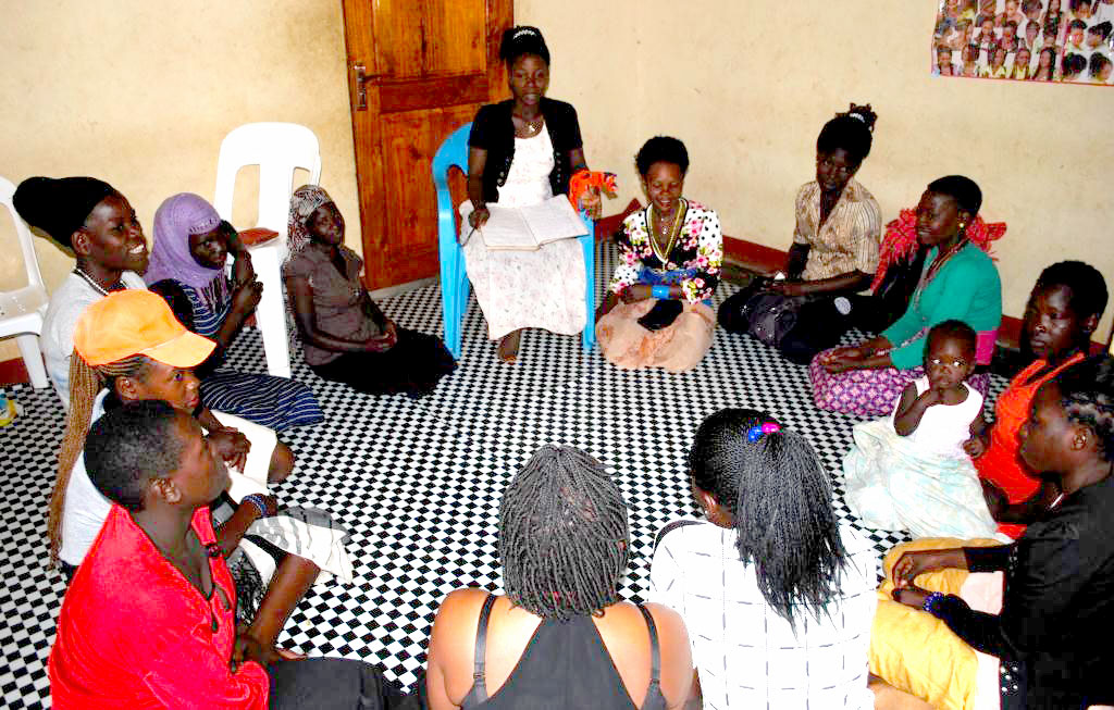 Ms Naluwuge speaks to women during stepping stone training.PHOTO BY KITOVU MOBILE